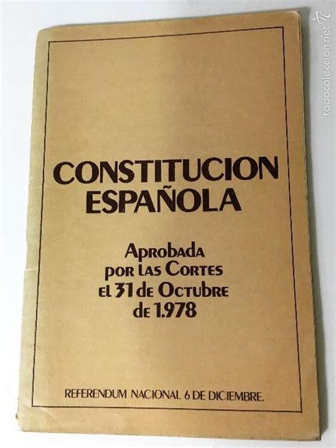 Constitucion española 1978   Vendido en Subasta   117588551