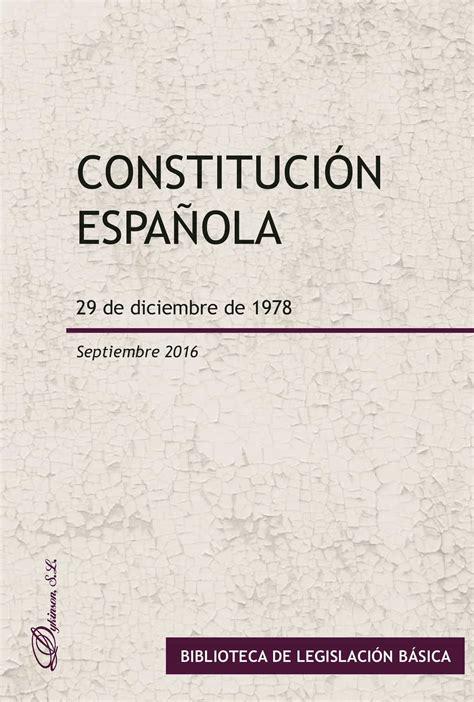 CONSTITUCIÓN ESPAÑOLA. 29 DE DICIEMBRE DE 1978 EBOOK | VV ...