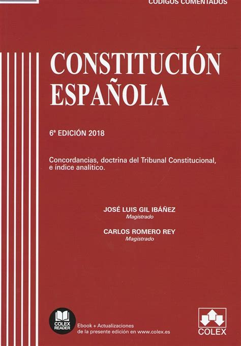 CONSTITUCION ESPAÑOLA COMENTADA  6ª EDICION 2018    VV.AA ...