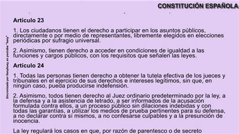 CONSTITUCION ESPAÑOLA Completa con Audio y texto   YouTube