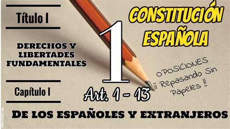 CONSTITUCIÓN ESPAÑOLA  TÍTULO PRELIMINAR DERECHOS Y ...