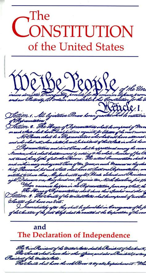 Constitution of the United States and the Declaration of ...