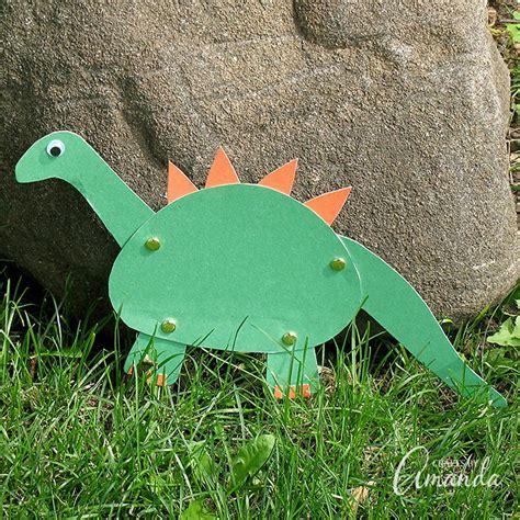Construction Paper Dinosaur Craft | AllFreePaperCrafts.com