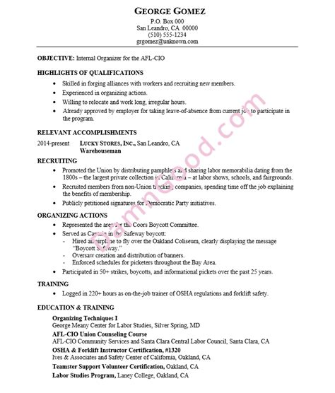 Construction Trades Labor Resume Samples Archives   Damn ...