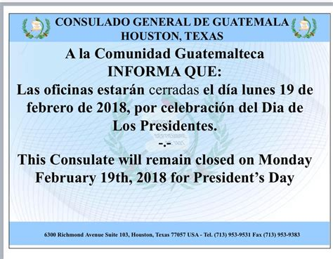 Consulado General de Guatemala, Houston, Texas   297 ...