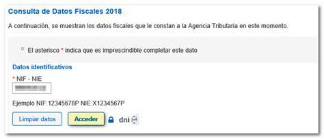 Consulta de datos fiscales on line   Agencia Tributaria