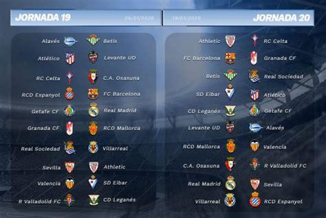 Consulta el calendario completo de la Liga Santander 2019 20