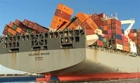 Container ship containers collapse, loss, Eastern US Coast ...
