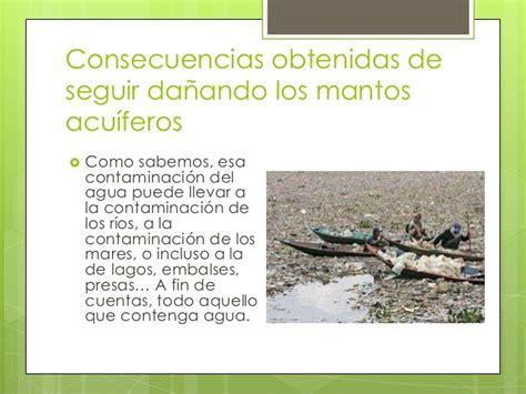 Contaminacion de mantos acuiferos