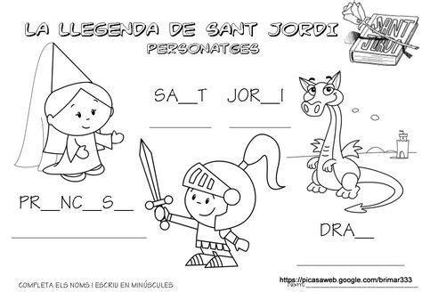 Conte: La llegenda de Sant Jordi | Jordi, Manualidades ...