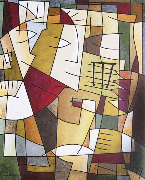 Contemporary Cubism Art Print    Sax Solo    Chicago ...