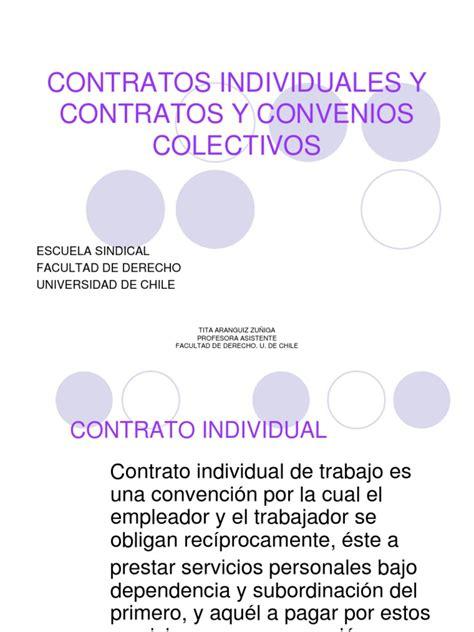 Contratos Individuales y Contratos y Convenios Colectivos1 ...