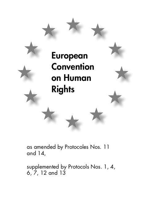 Convención Europea de Derechos Humanos