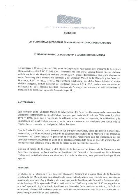 Convenio Agrupación de Familiares de Detenidos ...