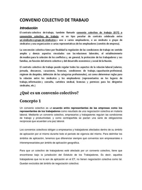 Convenio Colectivo de Trabajo..   Acuerdo colectivo ...