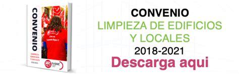 CONVENIO DE LIMPIEZA DE EDIFICIOS Y LOCALES DE LA ...