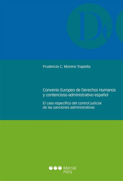 Convenio europeo de derechos humanos y contencioso ...