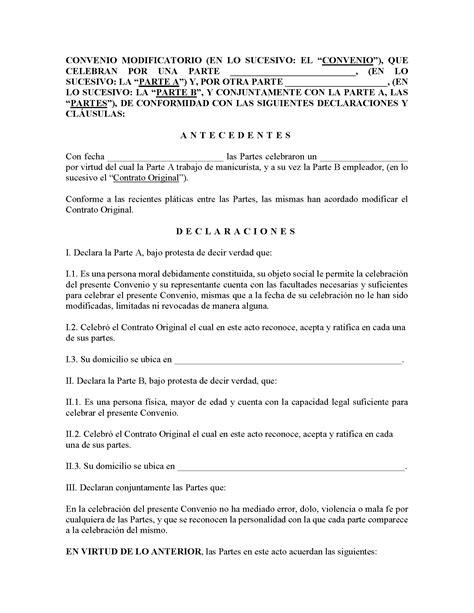 Convenio Modificatorio | Descargar Formato en PDF o Word ...