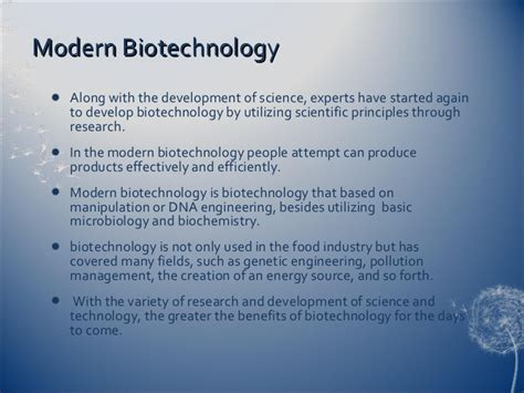 Conventional and modern biotechnology