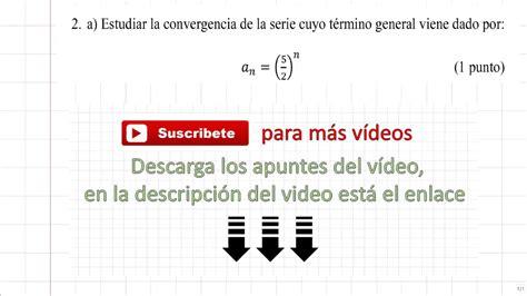 Convergencia de una serie y dominio función a trozos   YouTube