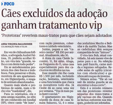 ConversAnimal: Notícia Folha de São Paulo
