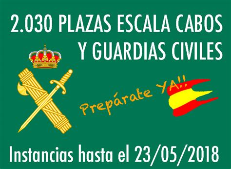 CONVOCATORIA OPOSICIONES ESCALA CABOS Y GUARDIAS CIVILES ...