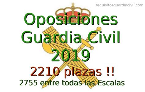Convocatoria Oposiciones Guardia Civil 2019   2210 plazas