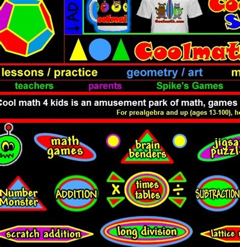 Cool Math 4 Kids Lessons, Games, Activities   f...