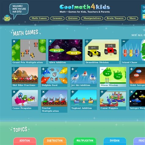 Cool Math 4 Kids Lessons, Games, Activities   free online ...