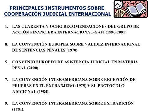 Cooperacion Judicial Internacional