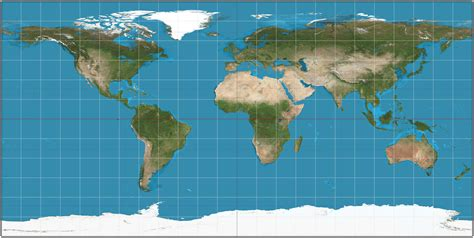 coordinate system   Mercator: scale factor is changed ...