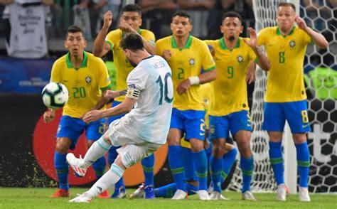 Copa América: Revive Messi, muere Argentina ante Brasil ...