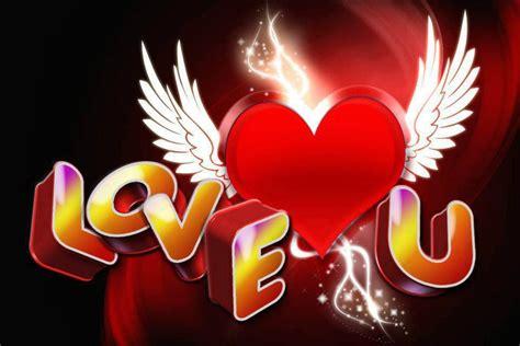 Corazón rojo con alas: LOVE U   ∞ Sólo Imagenes de Amor