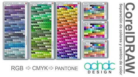 CorelDRAW, Separación de colores CMYK/RGB a PANTONE y ...