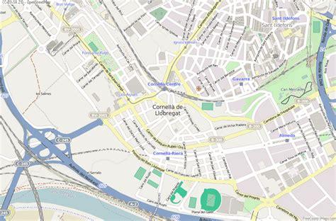 Cornellà de Llobregat Map Spain Latitude & Longitude: Free ...