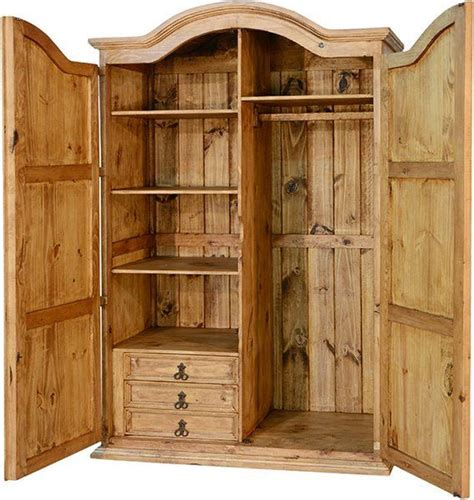 Corona Rustic Wardrobe Armoire R | Wardrobe furniture ...