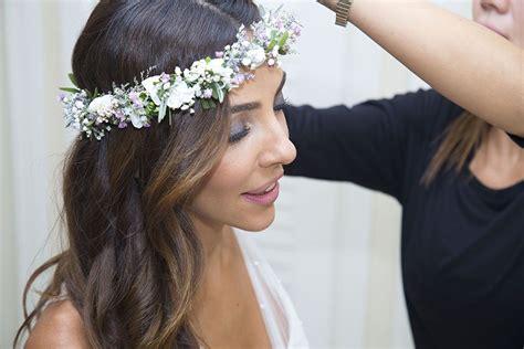 coronas de migajon para novias   corona de flores novia ...