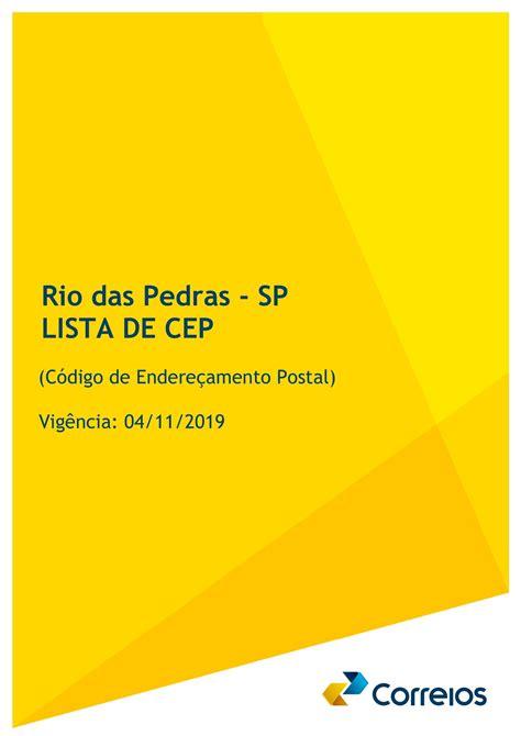 Correios implantam CEP individual nas Ruas de Rio das Pedras