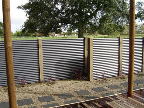 corrugated metal privacy screen   less framing   Screening ...
