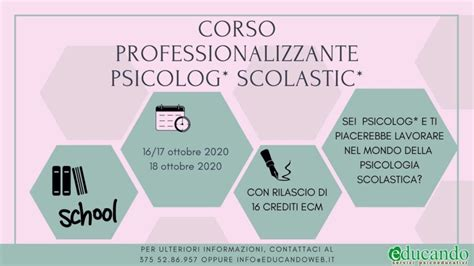 "Corso ""Psicolog* Scolastic*"" 16 ecm   EvoForm Consulting ..."