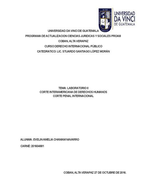 Corte Interamericana de Derechos Humanos y Corte Penal ...