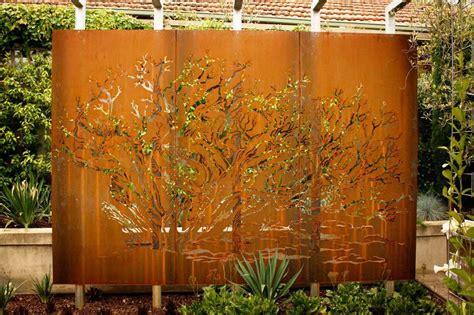 Corten Steel Plate Landscape | Decorative perforated metal ...