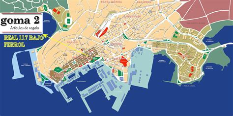 Coruña   Mapa: Ferrol