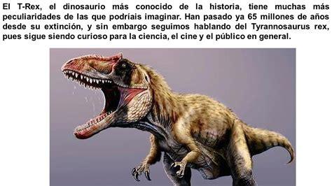 Cosas que No sabes del Tiranosaurio Rex,el rey del ...