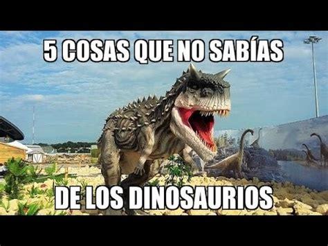 Cosas Que No Sabías De Los Dinosaurios   YouTube