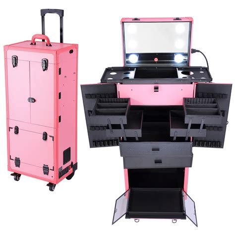 Cosmetic Makeup Show Artist Barber Travel Rolling Case ...