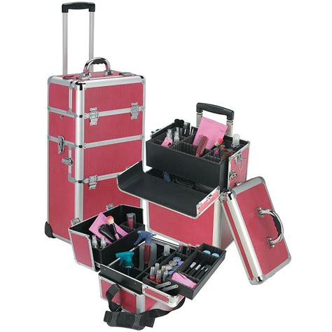 Cosmetology Bag On Wheels | ... Cosmetic Box Train Case ...