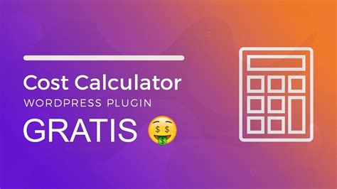 COST CALCULATOR ¡GRATIS!   Descargar Plugin para Wordpress ...