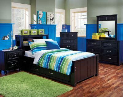 Cottage Colors Black 5 Pc Twin Bookcase Bedroom | The boys ...