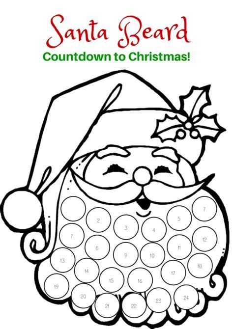 Countdown to Christmas: Santa Beard Printable | Holidays ...
